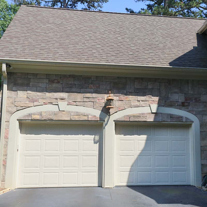 Beautiful double garage door