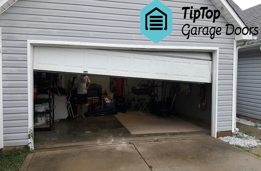 Fixing Garage Door Of Track